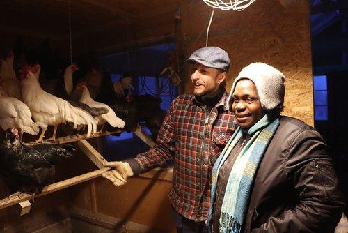 Joel Holmdahl och Lucinda från bondeorganisationen i Mocambiqe som arbetar mot bland annat prisdumpande import. Här på besök i Sverige. (foto: afrikagrupperna).jpg